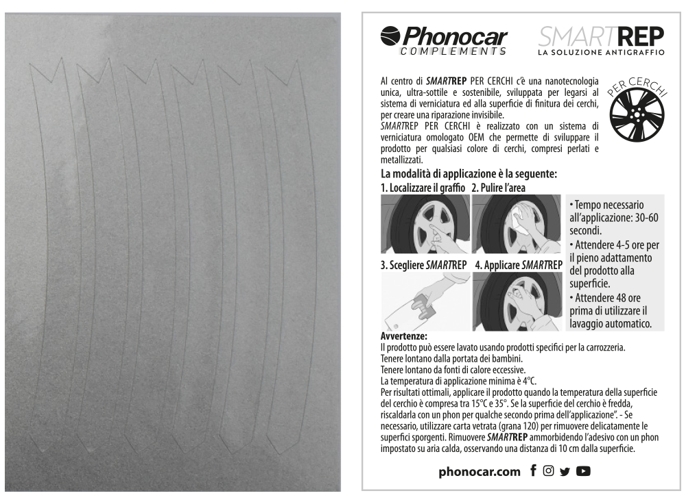 Phonocar SMARTREP foglio + smartrep