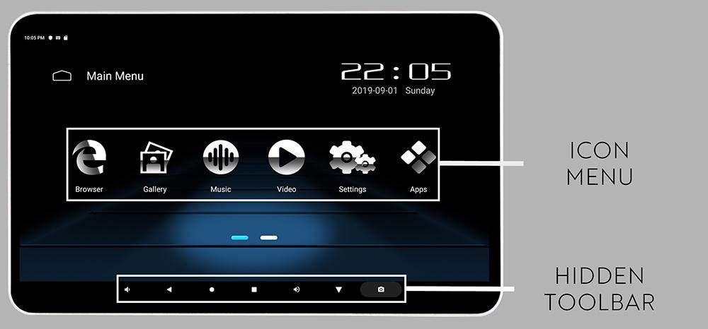 Phonocar VM156 Menu