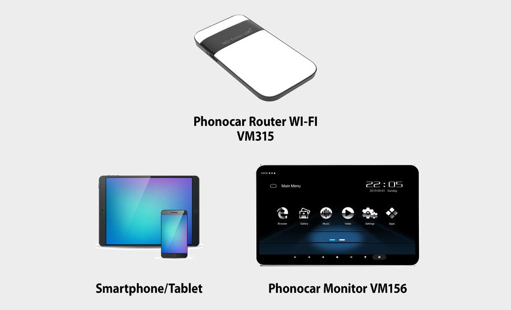 Phonocar-VM156-router-mode