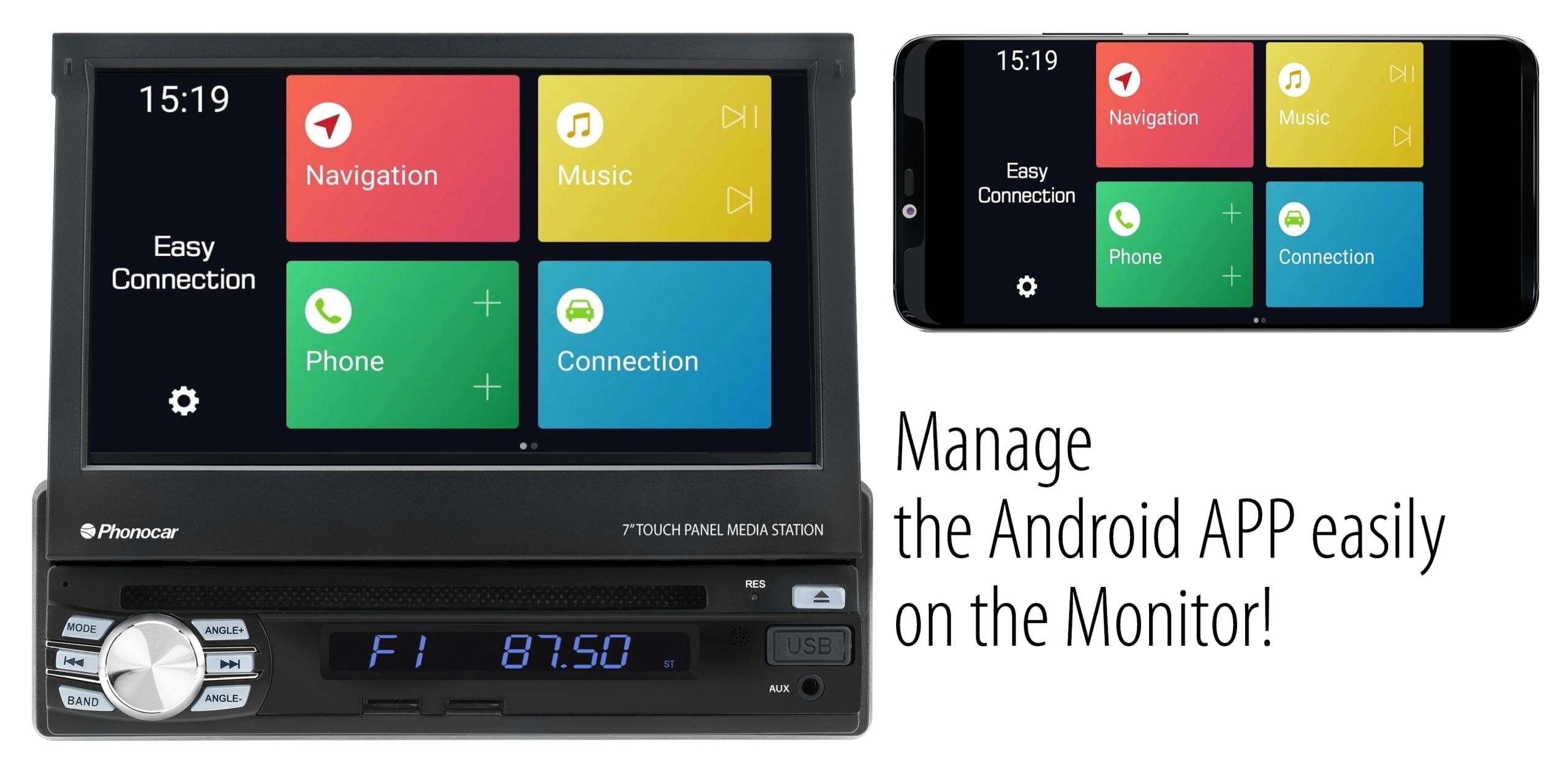 Phonocar VM045 Manage APP